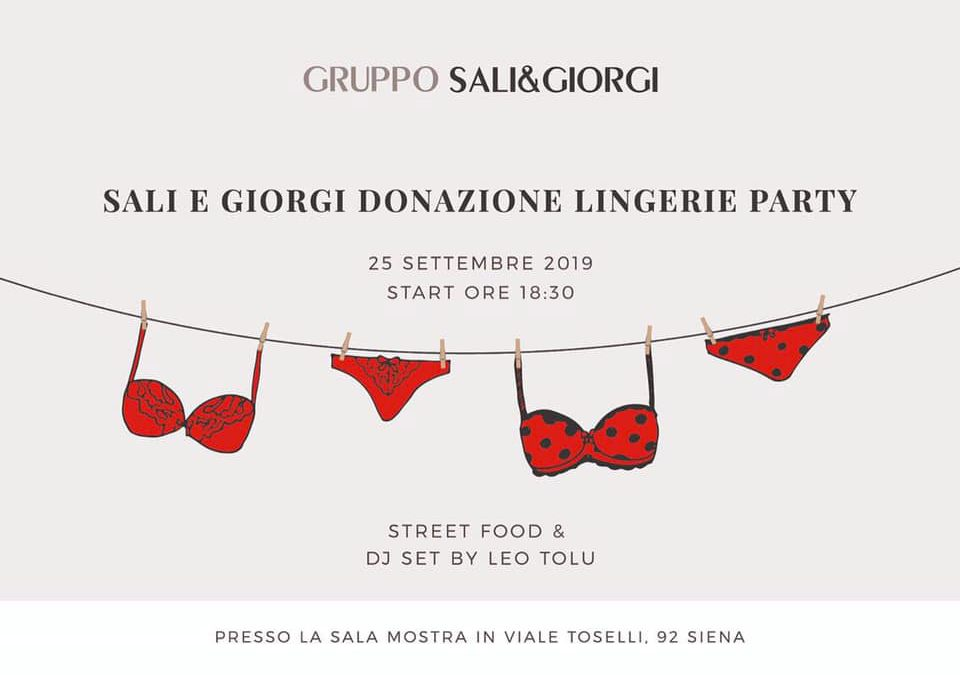 Sali e Giorgi lingerie party for Africa